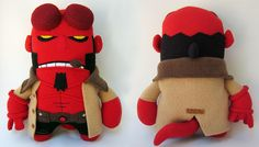 New Hellboy plush from Channel Changers. Cant find this for sale but why not contact Channel Changers to see about them making you a plush of your own!