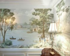 Dixie-Paul Montgomery - panoramic mural in a dining room