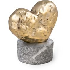 Kelly Wearstler Amorata Bronze & Marble Heart Sculpture (1,185 BAM) ❤ liked on Polyvore featuring home, home decor, apparel & accessories, no color, marble sculpture, kelly wearstler, marble home decor, bronze home decor and bronze sculpture