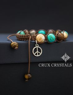Hey, I found this really awesome Etsy listing at https://www.etsy.com/listing/207071708/shamballa-bracelet-peace-love-natural
