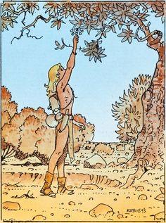 Original Comic Art:Illustrations, Moebius (Jean Giraud) Moebius Collector Cards #86 ColorProduction Art Original Art (Comic Images, 1993)....