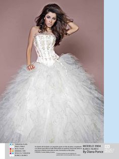 2012 new style strapless beaded white organza puffy sweet 15 quinceanera dress 3904 Old Dresses, Quince Dresses, Types Of Dresses, Prom Dresses, Strapless Dress, White Quinceanera Dresses, Robes Quinceanera, Sweet Sixteen Dresses, Sweet 16 Dresses