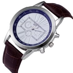 Digital Dial Leather Band Quartz Watch – Camari's Way