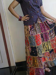 Amazing patchwork skirt