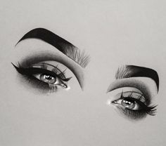 How to Draw Eyebrows - Face Makeup Cool Drawings, Drawing Sketches, Drawing Ideas, Easy Eye Drawing, Eye Art, Black Art, Art Inspo, Creative Art, Art Photography