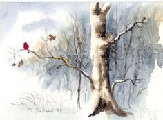 Make Your Own Christmas Cards free watercolour demonstration. Lovely idea with some hints and techniques.