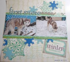 Create Indie: Scrapbook Layout Process: First Snow