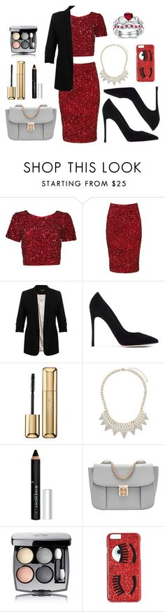"""""""Partyy"""" by romi-kella on Polyvore featuring Parker, Miss Selfridge, Gianvito Rossi, Guerlain, Givenchy, Chanel, Chiara Ferragni, women's clothing, women and female"""