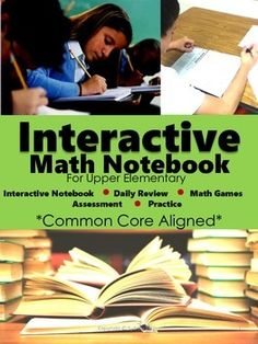 Interactive Notebook for Upper Elementary: 4th, 5th, and 6th grade*Aligned to the Common Core Standards*This interactive hands-on notebook will keep your students engaged and active in their learning experience.  Over 75 learning activities with directions and examples.