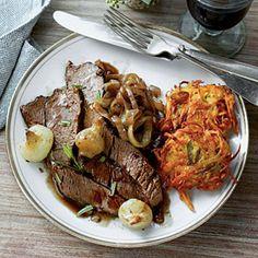 Easy Holiday Suppers   Hannukah Celebration   SouthernLiving.com  Mmmmm... brisket...