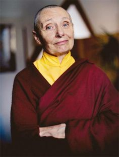 Jetsunma Tenzin Palmo was born Diane Perry during the Blitz, in 1943. She decided she was a Buddhist in 1961, at the age of 18, traveled by sea to India, & met her root guru, the 8th Khamtrul Rinpoche, on her 21st birthday. She became the 2nd Western woman to be ordained 3 weeks later. At 33, w/her lama's blessing, she took up residence in a 6X6 cave, 13,200' up in the Himalayan valley of Lahaul for 12 years. She founded the Dongyu Gatsal Ling Nunnery, in Himachel Pradesh, India in 2000.