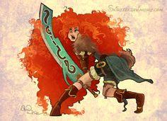 Warrior Merida by Skirtzzz - Disney/Final Fantasy