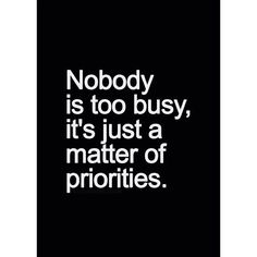 So true. #Priorities