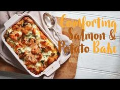Creamy Salmon Bake Recipe with Norwegian Salmon - Taming Twins