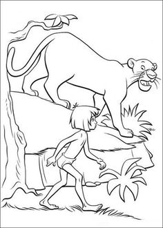 jungle book 2 coloring pages. Mowgli, a human child raised by a group of wolves, Mowgli has been trained by Bagheera a panther to be able to behave like a wild animal. But Mowgli s. Farm Animal Coloring Pages, Cool Coloring Pages, Cartoon Coloring Pages, Coloring Pages To Print, Coloring Pages For Kids, Coloring Books, Kids Coloring, The Jungle Book, King Louie Jungle Book