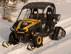 You Can Am doesn't want to hibernate, and why should it? With the SnoCobra UTV skis, you can power through powder. Great for work or play! $1299.00 http://www.sidebysidestuff.com/snocobra-ski-system---can-am.html