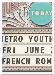 pastel marquee sign . . . 5x7 fine art photograph by lesley sico. via Etsy #fpoe