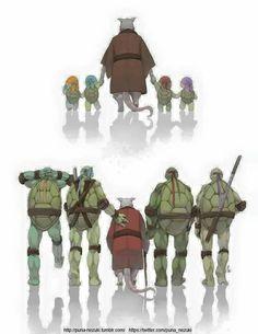 Master Splinter and Turtles Ninja