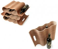 This is a fine example of beautiful sustainable packaging. A wine packaging that can later be stacked to make a wine rack. Since it's made in wood, it looks very chic and designer and surely will be a reason people buy more and more wine!