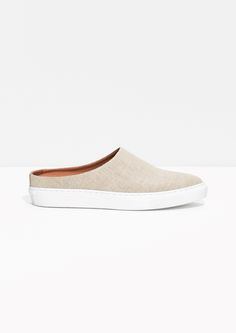 & Other Stories image 1 of Canvas Slip-in Sneakers in Off white