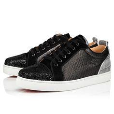 Black Flats, Black Suede, Black Silver, Christian Louboutin, Online Boutiques, Men's Shoes, Red Sole, Junior, Leather Men