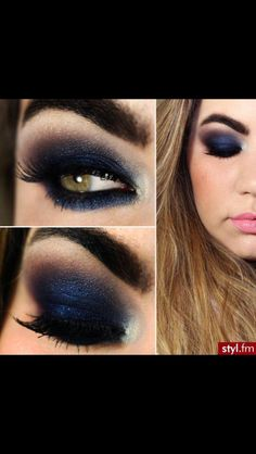 Bleu eye makeup