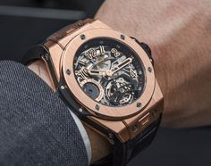 The Big Bang Tourbillon 5 Day-Power by Hublot presents a luxury design, don't you agree? #luxury #luxurygoods #luxurylifestyle Visit us at www.luxxu.net