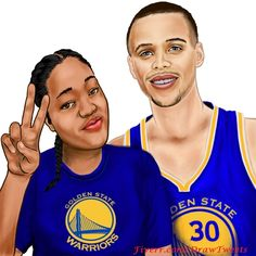 Beautiful Girl with Stephen Curry - An art piece inspired by Deja in Twitter.com/HlGHONBIEBER. Let us draw YOU on fiverr.com/DrawTweets. #Portrait #Caricature #Art #Drawing #warriors #dubnation #gametime #fullbar #nba #warriorsground #arts #nbafinals #nbafinalsvote #stephencurry #StrenghtInNumbers