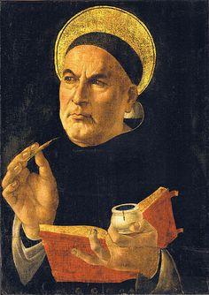 Santo Tomas de Aquino  de Sandro Botticelli
