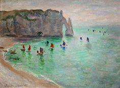 Claude Monet - Etretat, Porte d'Aval : bateaux de pêche