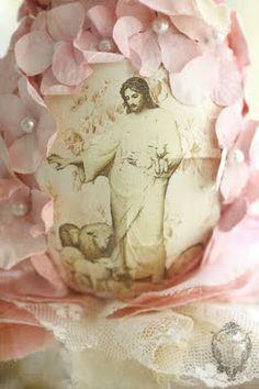 Easter egg of flowers