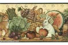 30992310 Fruits and Animals Wallpaper Border