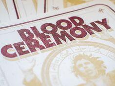 Blood Ceremony, 2017, Riso, Print, Druck, Poster, Logo, artwork, design, grafik   Peter Möller