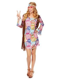 Costume Hippy Donna                             multicolore Donna  - Kiabi
