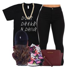 """""""Don't Drake Andd Drive✨"""" by clinne345 ❤ liked on Polyvore featuring MICHAEL Michael Kors, adidas Originals and Kenneth Jay Lane"""
