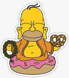 Homer Simpson The Simpsons: Tapped Out Bart Simpson Mr. Simpsons Drawings, Simpsons Tattoo, Simpsons Art, Simpsons Quotes, Small Tattoo Placement, Cool Small Tattoos, Laptop Stickers, Cute Stickers, Tumblr Stickers