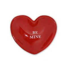 """Home decor 4 Seasons - """"Be Mine"""" Candy Plate, $8.25 (http://www.homedecor4seasons.com/be-mine-candy-plate/)"""