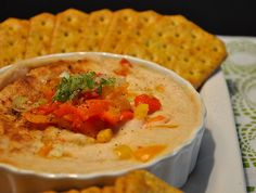Warm White Bean Dip with Roasted Red Bell Peppers.  I've never met a bean dip I didn't like. :)