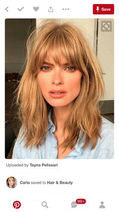 Hairstyles With Bangs, Cool Hairstyles, Bangs Hairstyle, Hairstyles 2018, Blonde Fringe Hairstyles, Center Part Hairstyles, Wedding Hairstyles, Makeup Hairstyle, Blonde Hairstyles