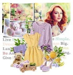 """Emma stone"" by goodgame-1 ❤ liked on Polyvore featuring The French Bee, Proenza Schouler, Steven Alan, Gund, women's clothing, women's fashion, women, female, woman and misses"