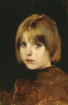 Portrait of a Young Girl, 1886. By Helene Schjerfbeck.