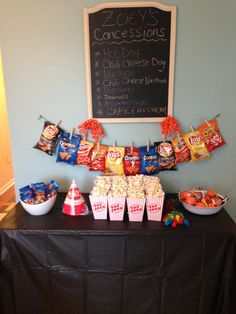 Basketball concession stand for toddler bday party!