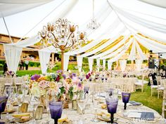 Love how they used this tent to make canopies