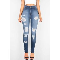 Pink Ice Rise and Grind High Waist Skinny Jeans ($55) ❤ liked on Polyvore featuring jeans, pants, denim, high waisted distressed jeans, skinny jeans, ripped jeans, pink skinny jeans and high-waisted skinny jeans