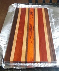 My newest face grain cutting board. Some beautiful padauk came into my life. http://ift.tt/2ga1Iw4