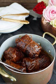 Classic beef roulade - my family recipe - Ofen Rezepte - Dinner Recipes Sunday Recipes, Easy Dinner Recipes, Bacon Recipes, Cooking Recipes, Healthy Recipes, Shrimp Recipes, Easy Family Meals, Easy Meals, Beef Roulade