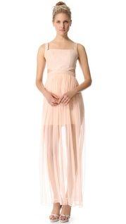 alice + olivia Wrap Front Halter Maxi Dress | SHOPBOP