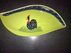 This is an African themed, hand painted ceramic dish which is suitable for… Guinea Fowl, Hand Painted Ceramics, Kitchen Stuff, Olives, Peanuts, Starters, African, Paintings, Dishes