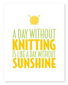 A Day Without Knitting ~ Note Card from Knitterella