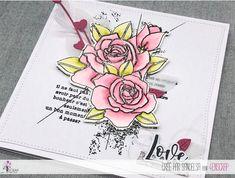 """Sandelsa: #Tampons et #matrices de coupe #dies #4enSCRAP """"#roses """" #fleurs #scrapbooking #DIY #loisirscréatifs #carte #carterie Mini Albums, Nature Rose, Scrapbooking Diy, Tampons Transparents, Roses, Bonheur, Happy Moments, Emboss, Splash Of Color"""